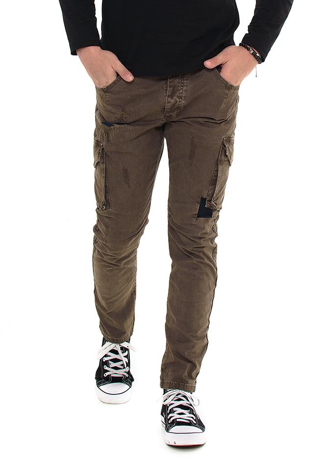 Ανδρικό Chino Παντελόνι Enos Brown Pockets αρχική ανδρικά ρούχα επιλογή ανά προϊόν παντελόνια παντελόνια chinos