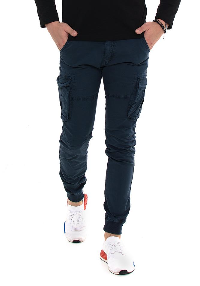 Ανδρικό Chino Παντελόνι Navy Pockets αρχική άντρας παντελόνια chinos   cargos