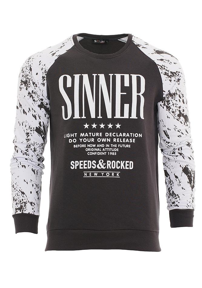 Ανδρικό Φούτερ Sinners D.Grey αρχική ανδρικά ρούχα φούτερ
