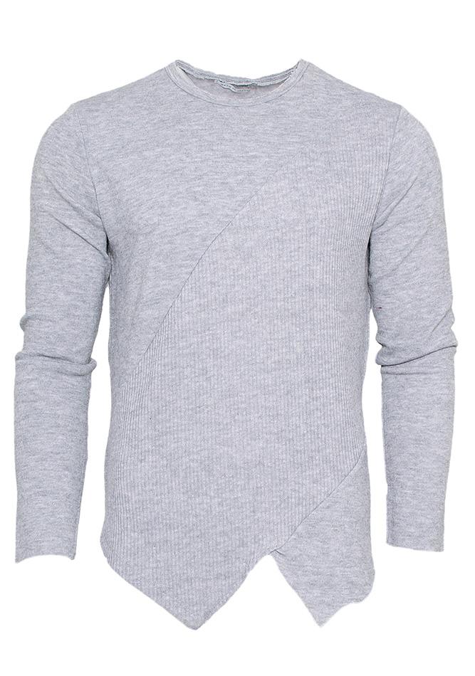 Μπλούζα Asymmetrical Half Line Grey αρχική ανδρικά ρούχα επιλογή ανά προϊόν μπλούζες
