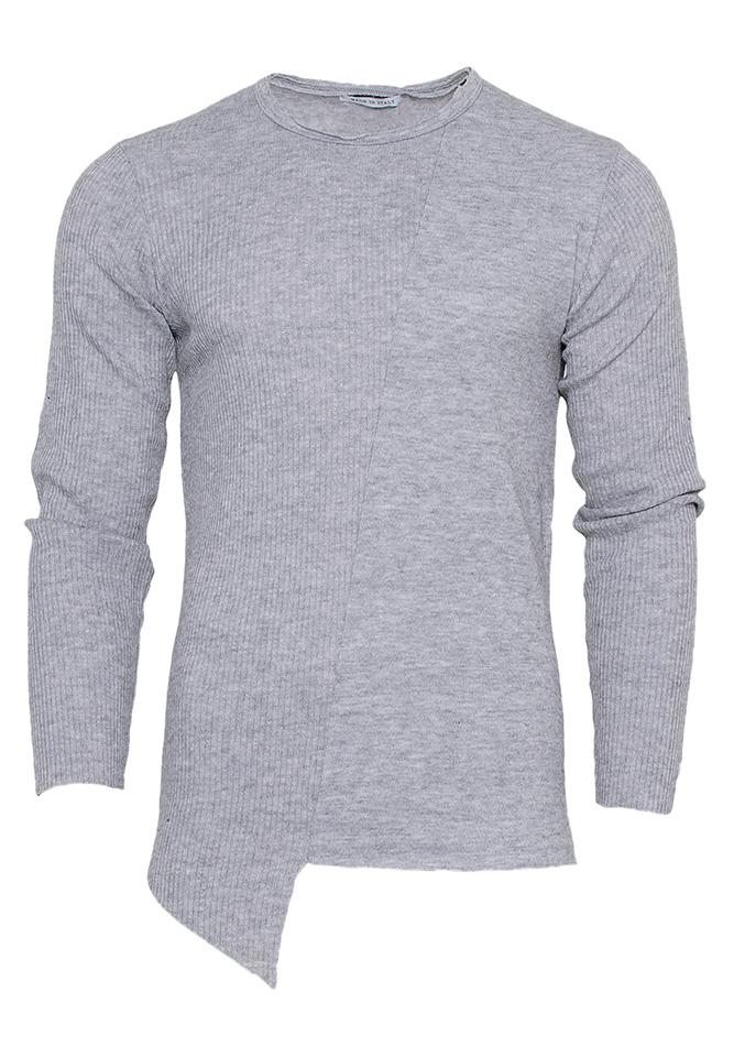 Μπλούζα Asymmetrical Line Grey αρχική ανδρικά ρούχα μπλούζες