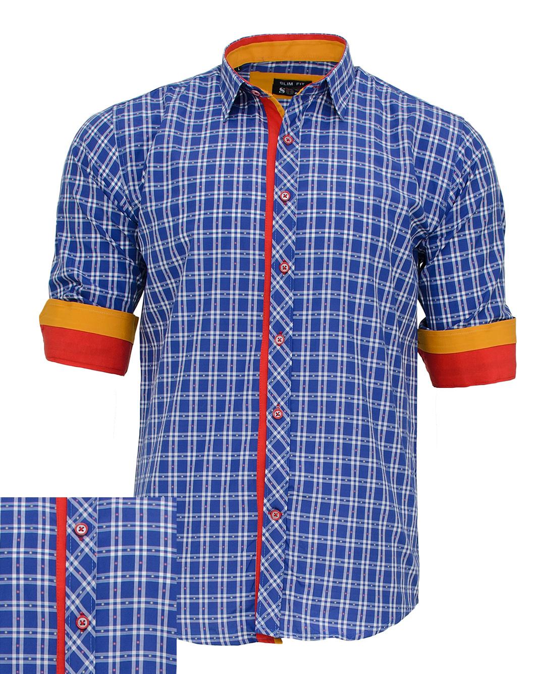 Ανδρικό Πουκάμισο So Fashion Καρώ Blue-Μπλε αρχική ανδρικά ρούχα πουκάμισα