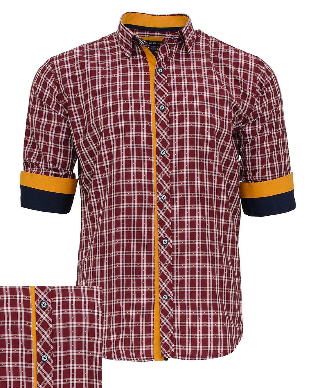 Ανδρικό Πουκάμισο So Fashion Καρώ Bordo-Μπορντό αρχική ανδρικά ρούχα πουκάμισα