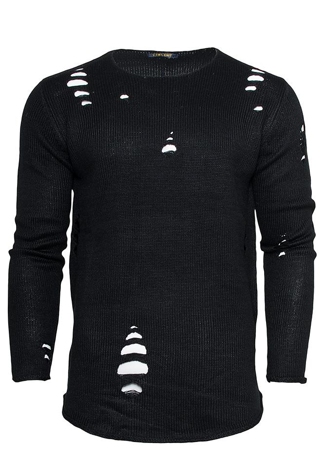 Μπλούζα Holes Black αρχική ανδρικά ρούχα πλεκτά