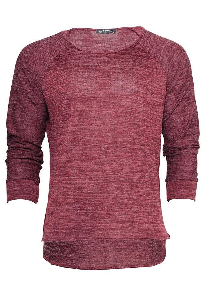 Μπλούζα Casual Maroon αρχική ανδρικά ρούχα μπλούζες