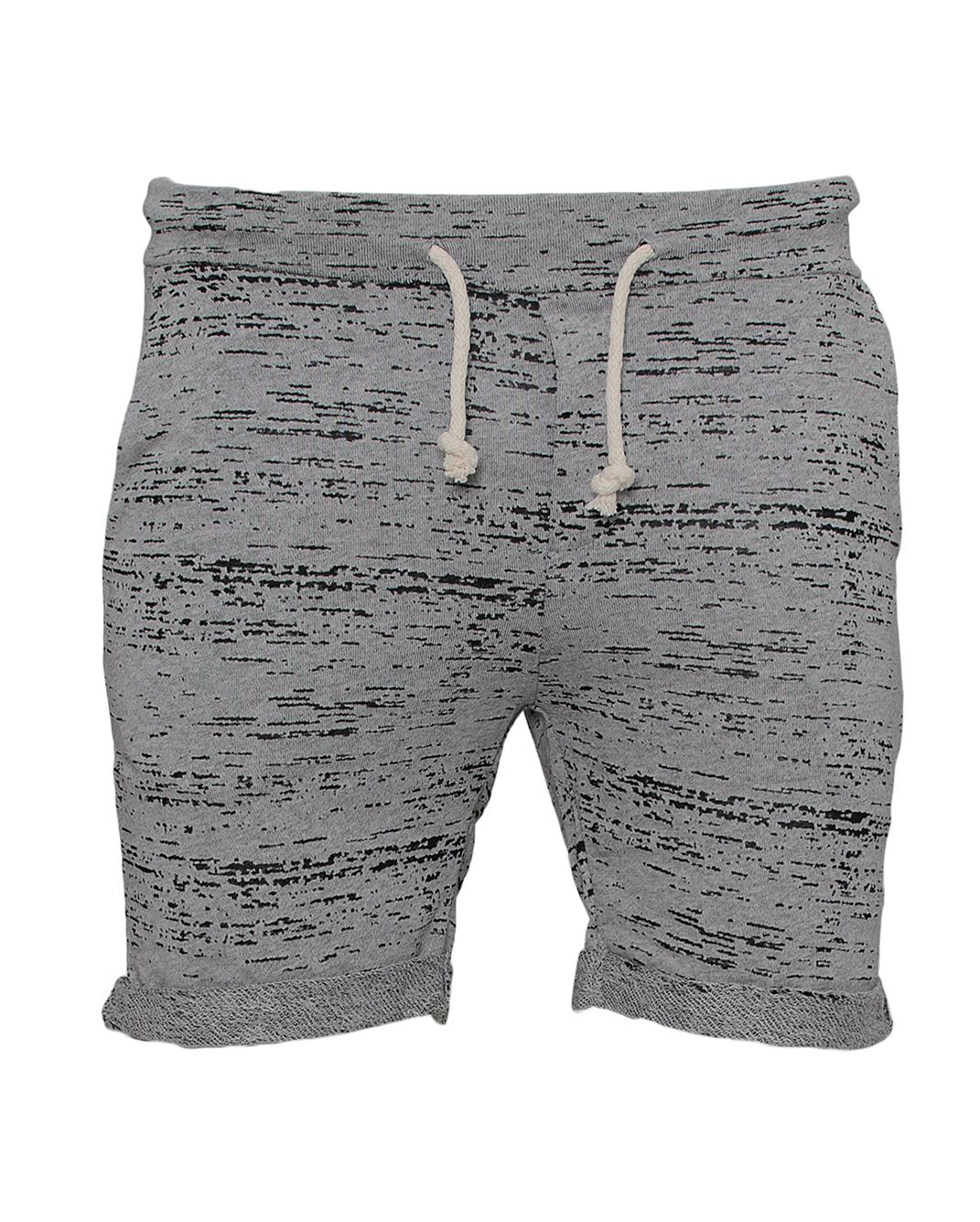 Ανδρική Βερμούδα Grey Black-Γκρι αρχική ανδρικά ρούχα επιλογή ανά προϊόν βερμούδες