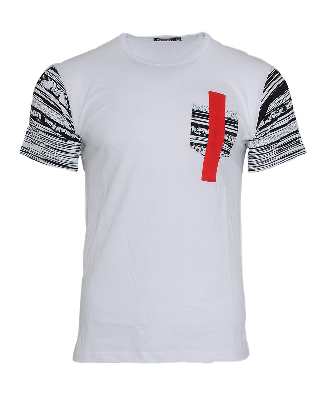 Ανδρικό T-shirt Pocket Line Red-Άσπρο