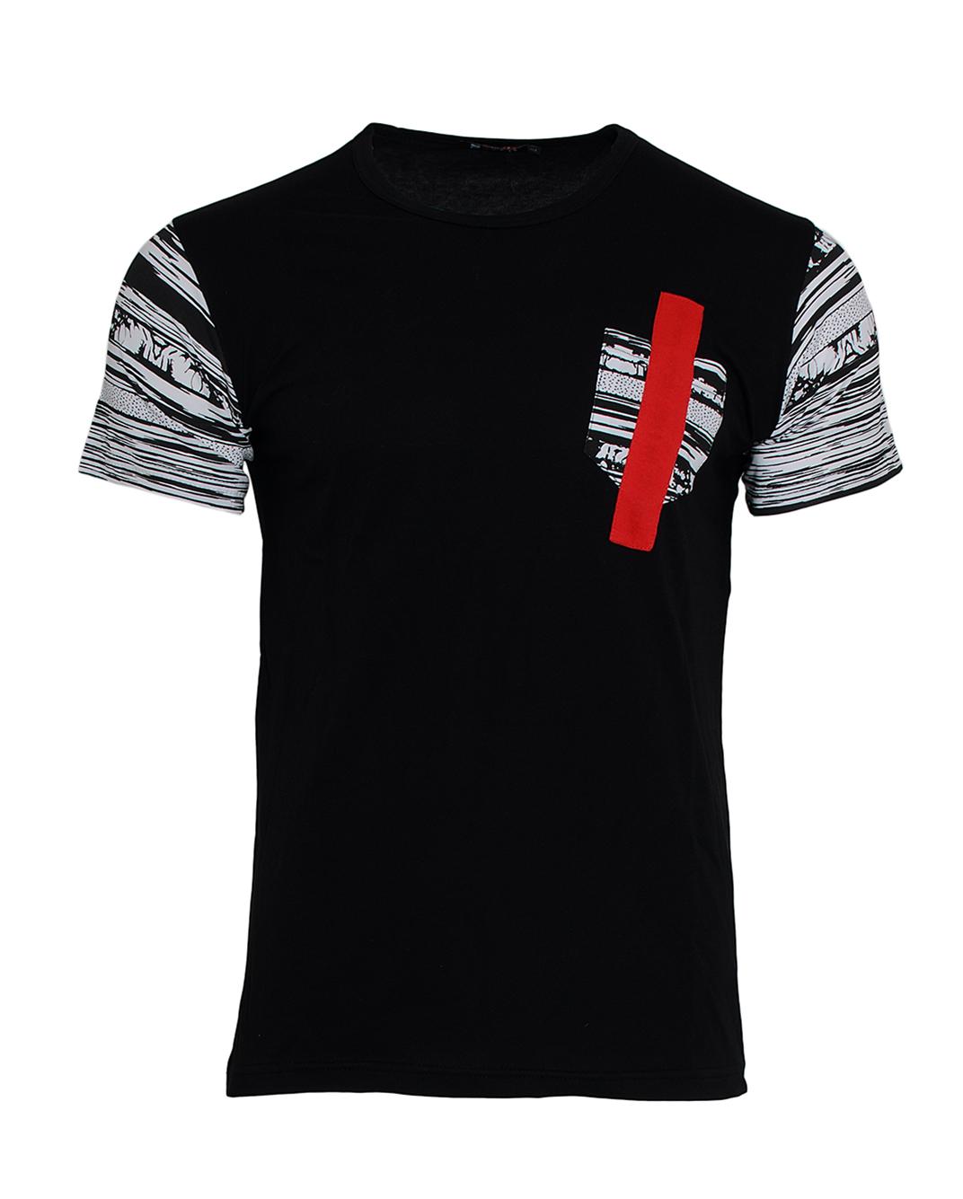 Ανδρικό T-shirt Pocket Line Red-Μαύρο αρχική ανδρικά ρούχα επιλογή ανά προϊόν t shirts