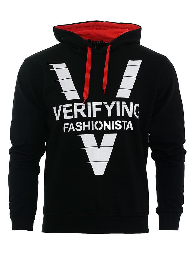 Ανδρικό φούτερ Verifying Black αρχική ανδρικά ρούχα φούτερ