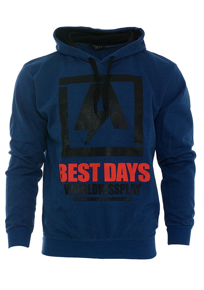 Ανδρικό Φούτερ Best Days D.Blue αρχική ανδρικά ρούχα φούτερ