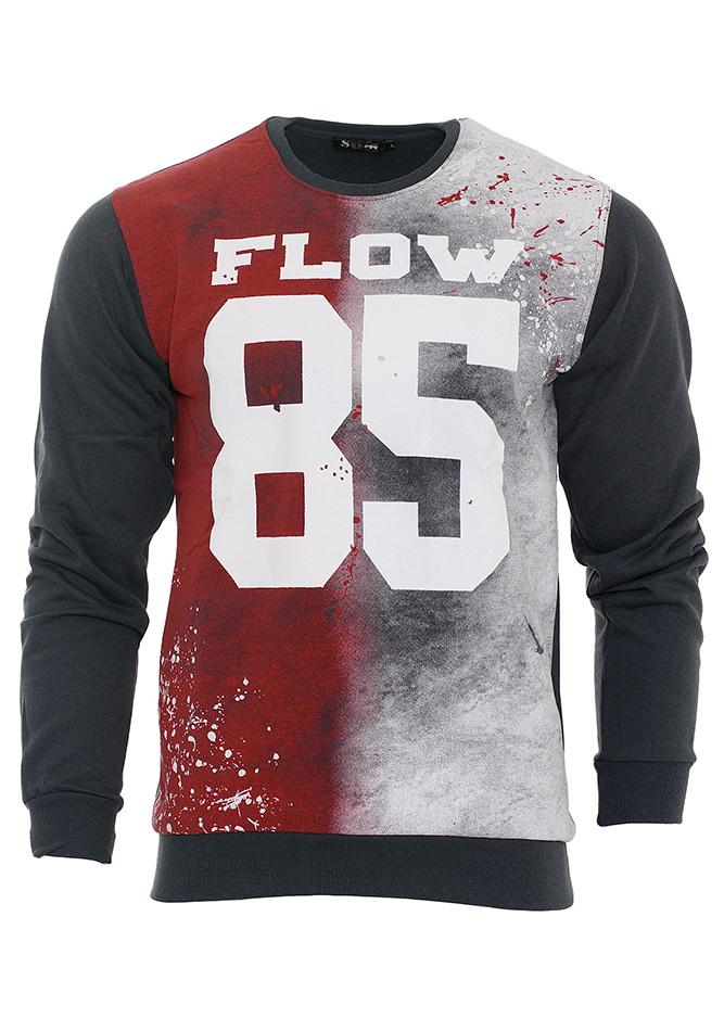 Ανδρικό Φούτερ Flow Γκρι αρχική ανδρικά ρούχα φούτερ