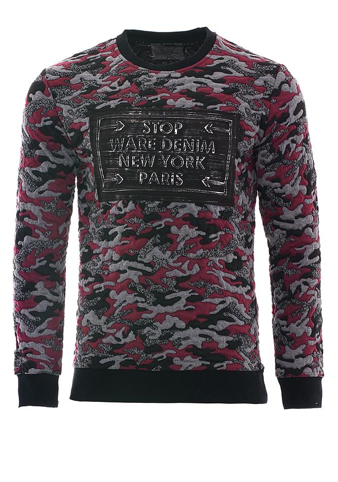 Ανδρικό Φούτερ Stop Bordeaux αρχική άντρας μπλούζες φούτερ
