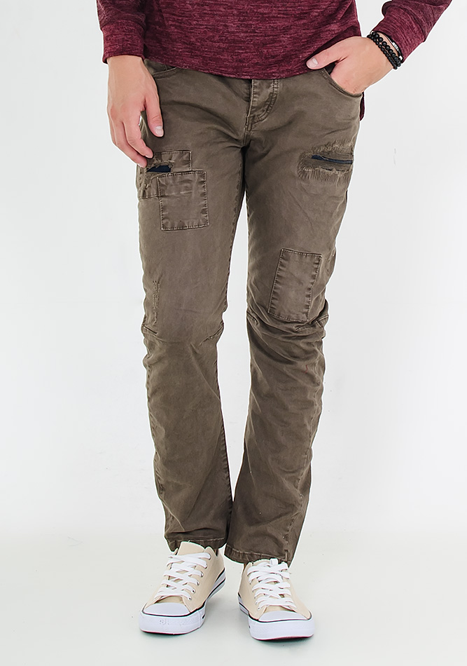 Ανδρικό Chino Double Patch Olive Green