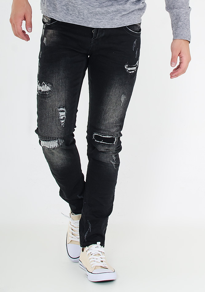 Ανδρικό Jean Black Scrath αρχική ανδρικά ρούχα παντελόνια jeans