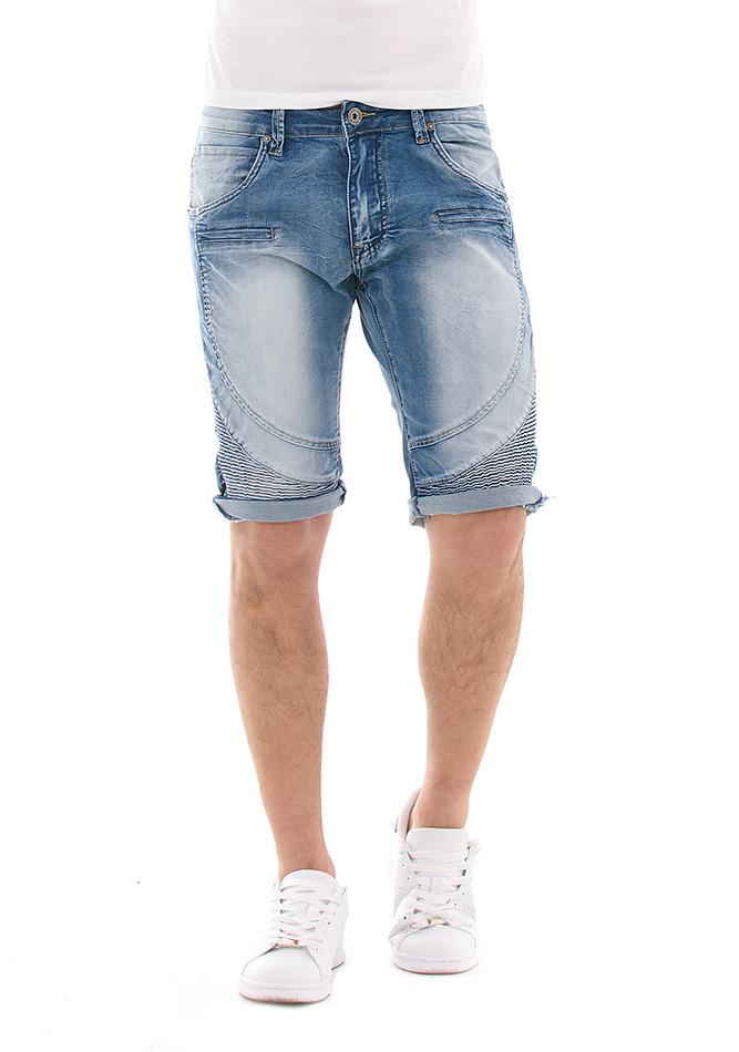 Ανδρική Βερμούδα Jean TMK Blue αρχική ανδρικά ρούχα βερμούδες