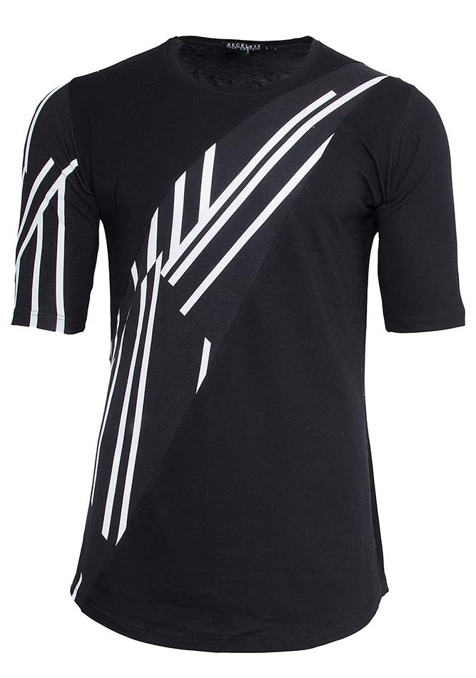 Μπλούζα Printed Stripes αρχική ανδρικά ρούχα t shirts
