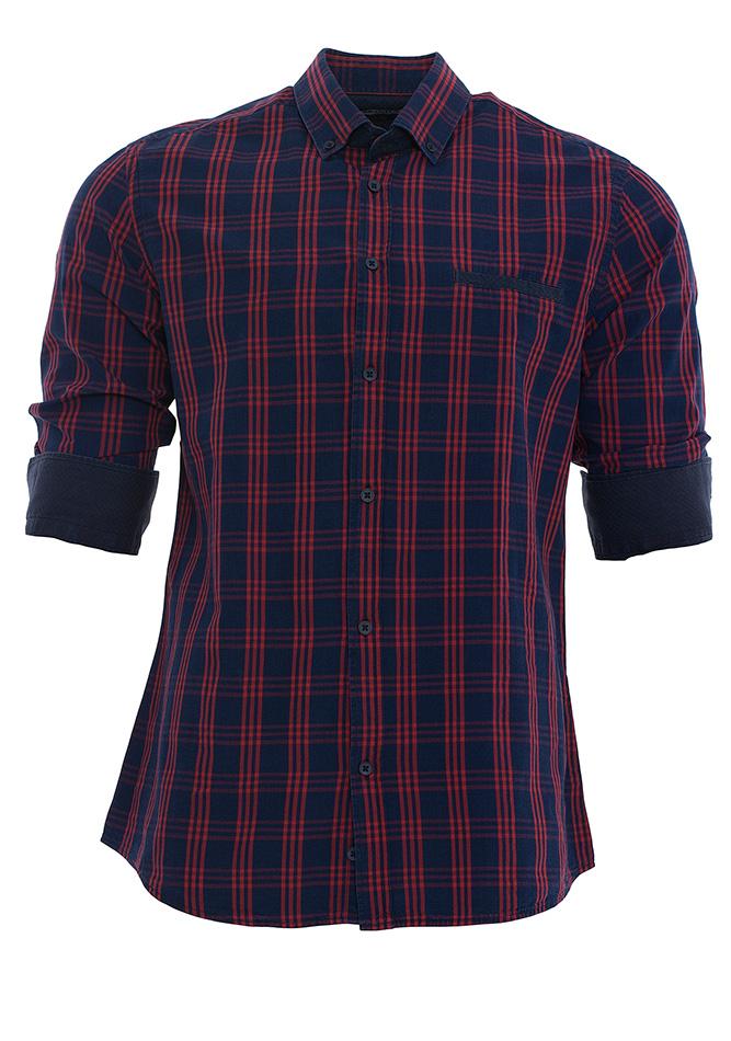 Ανδρικό Πουκάμισο Red Blue Καρώ αρχική ανδρικά ρούχα πουκάμισα