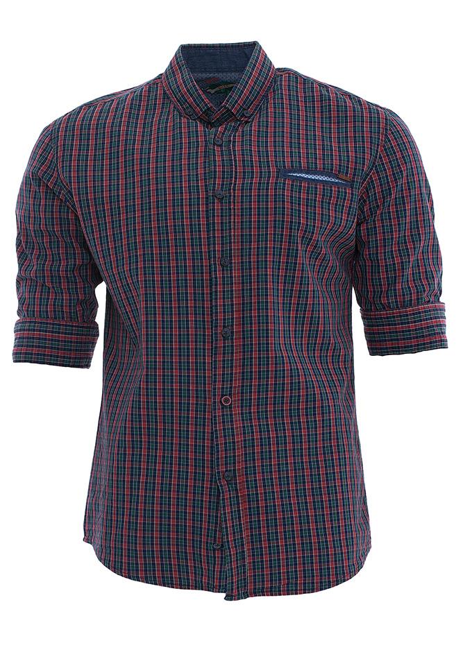 Ανδρικό Πουκάμισο Blue Καρώ αρχική ανδρικά ρούχα πουκάμισα