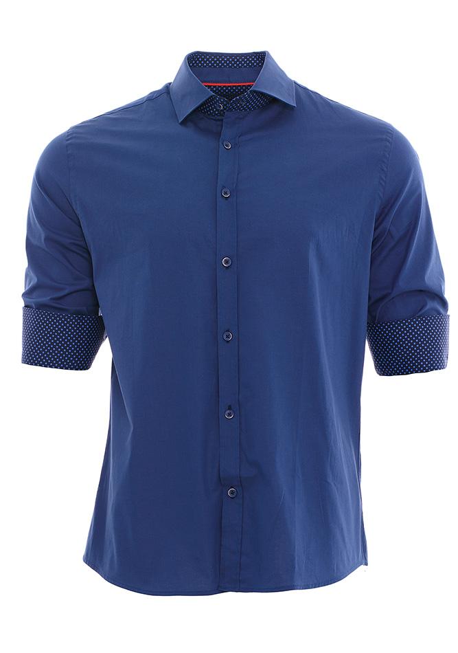 Ανδρικό Πουκάμισο Brand's Blue αρχική ανδρικά ρούχα πουκάμισα