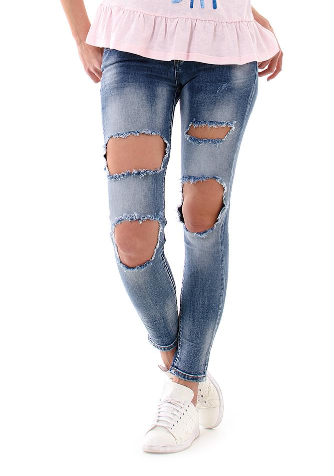 Γυναικείο Jean Holes Blue αρχική γυναικεία ρούχα παντελόνια