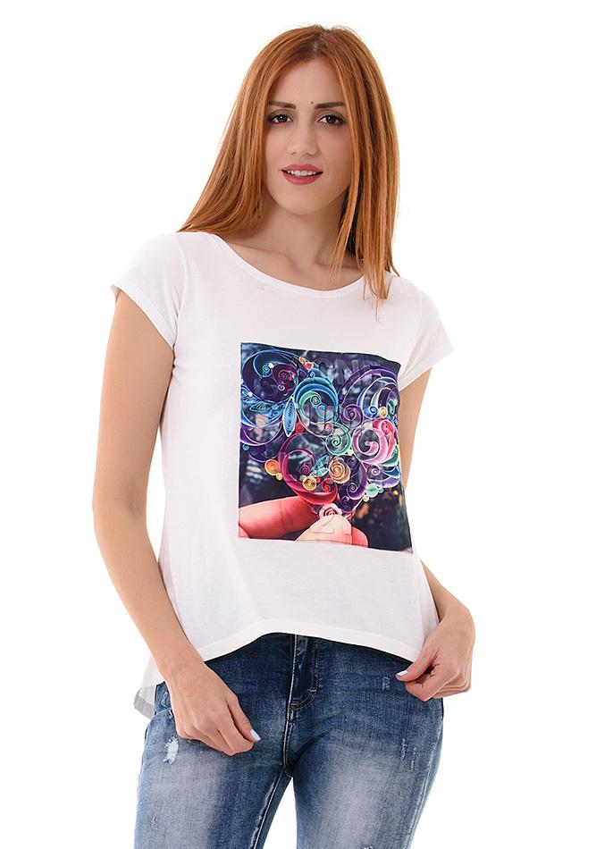 Μπλούζα NYG White αρχική γυναικεία ρούχα μπλούζες   tops