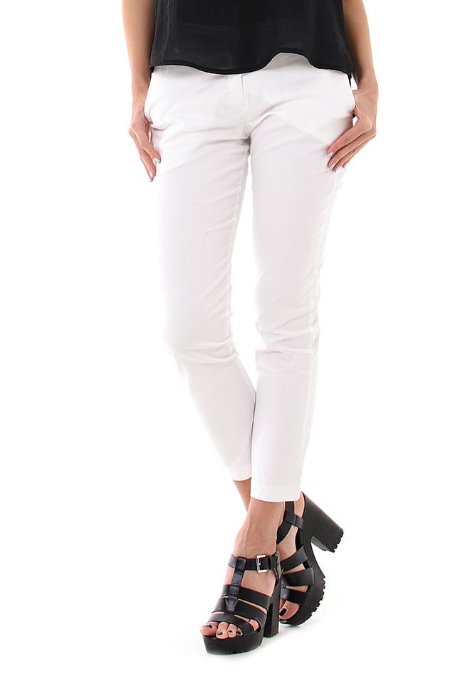 Υφασμάτινο Παντελόνι Be White αρχική γυναικεία ρούχα παντελόνια