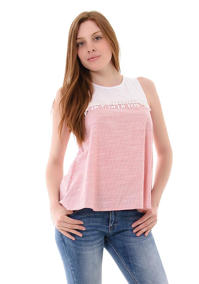 Μπλούζα Stripes Pink αρχική γυναικεία ρούχα μπλούζες   tops