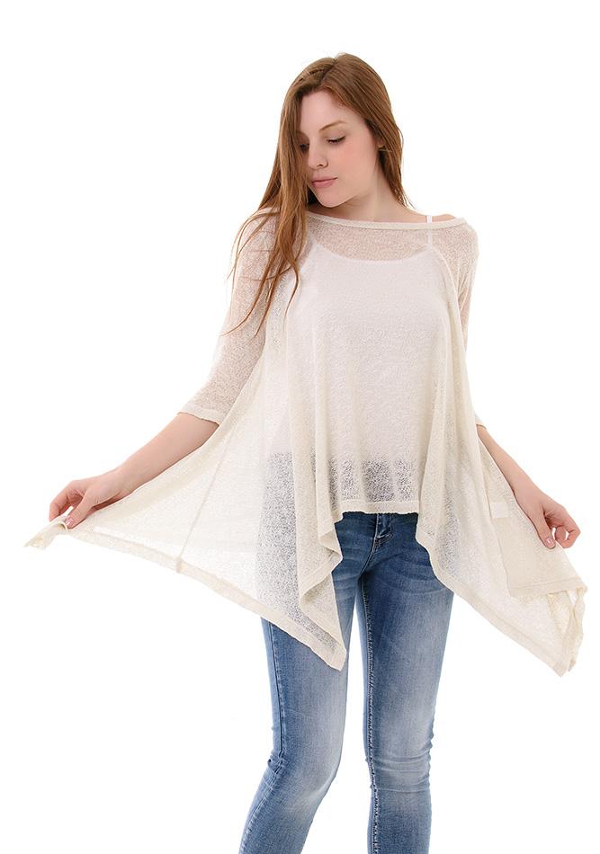 Πλεκτή Μπλούζα Just Beige αρχική γυναικεία ρούχα μπλούζες   tops