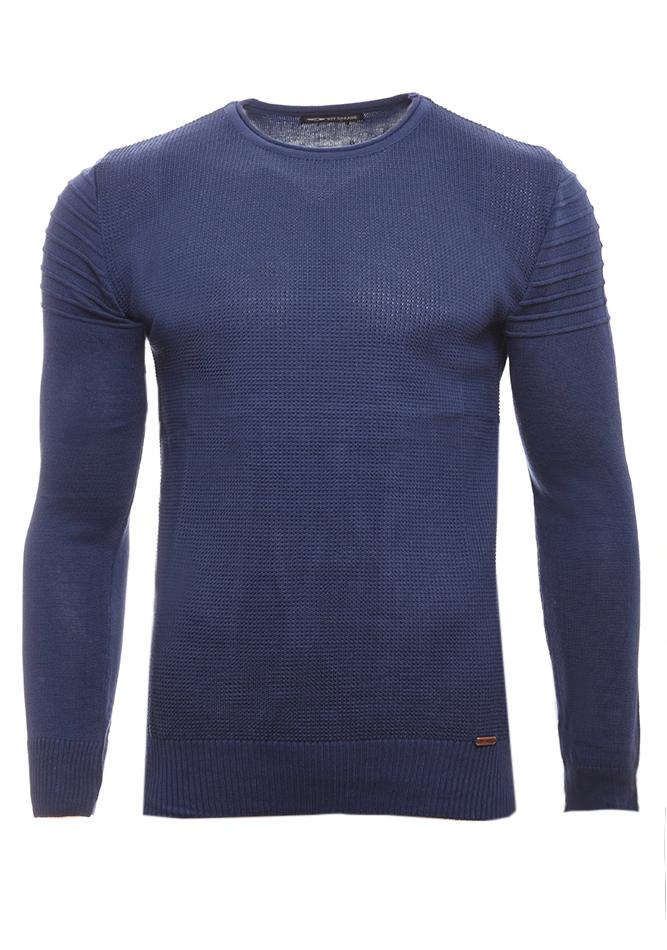 Ανδρική Πλεκτή Μπλούζα Roy Blue αρχική ανδρικά ρούχα
