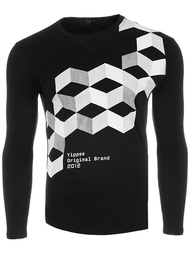 Ανδρική Μπλούζα Brand Black αρχική ανδρικά ρούχα