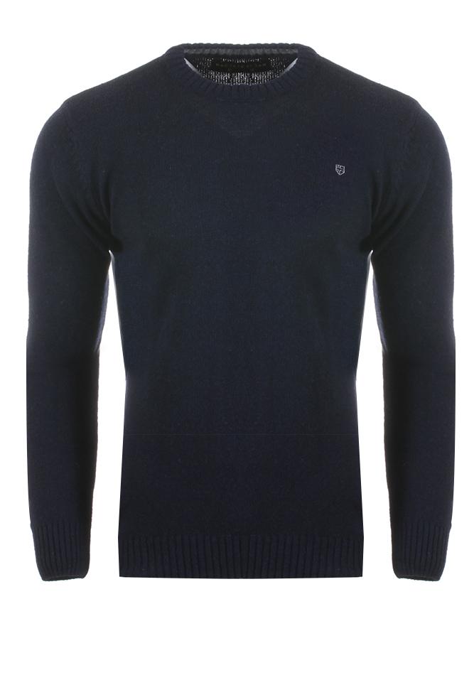 Ανδρική Πλεκτή Μπλούζα Cause Big Size D.Blue αρχική ανδρικά ρούχα