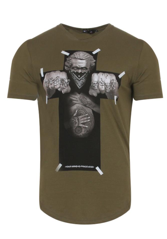 Ανδρικό T-Shirt Cross Olive Green αρχική άντρας