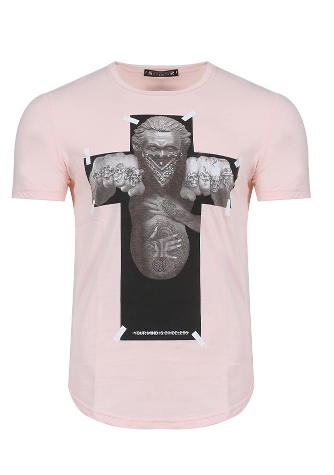 Ανδρικό T-Shirt Cross Pink αρχική άντρας
