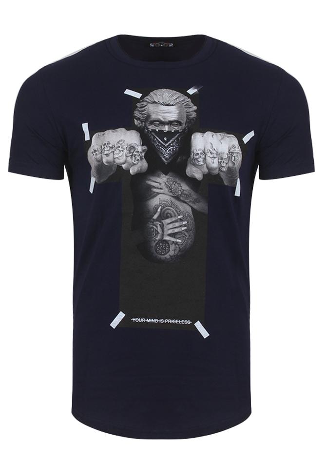 Ανδρικό T-Shirt Cross D.Blue αρχική άντρας