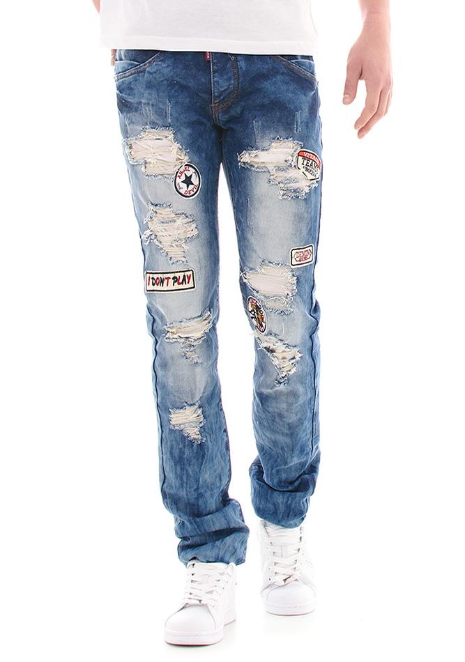 Ανδρικό JeanTeams Blue αρχική ανδρικά ρούχα επιλογή ανά προϊόν παντελόνια παντελόνια jeans