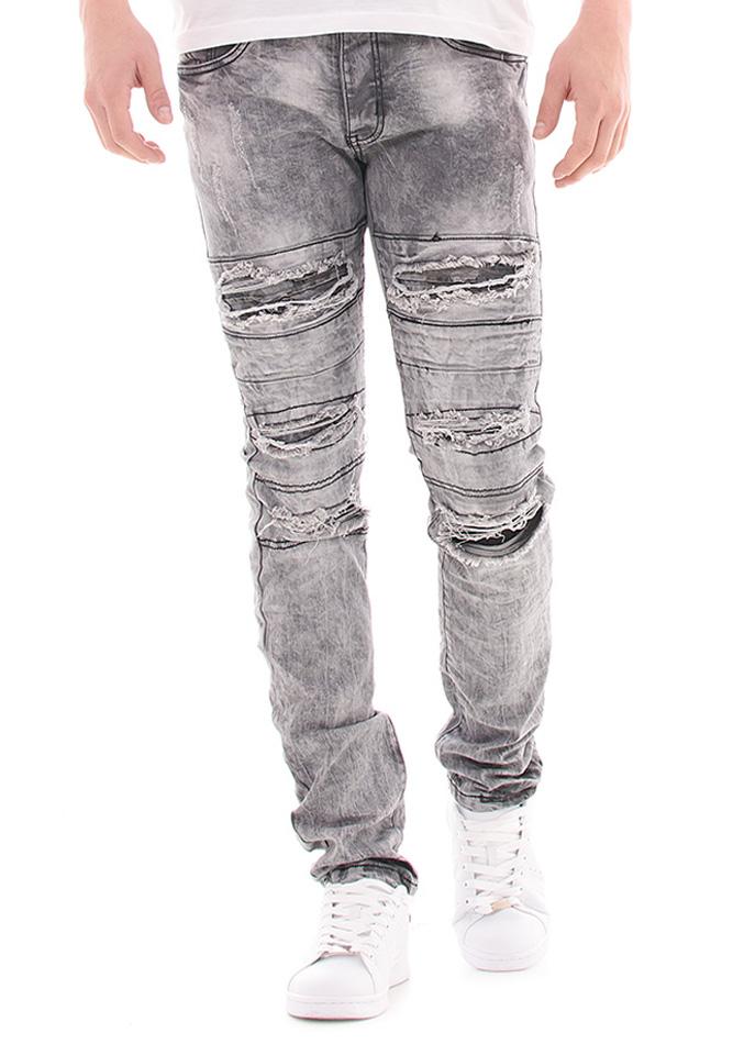 Ανδρικό Jean Justing Grey View αρχική ανδρικά ρούχα επιλογή ανά προϊόν παντελόνια παντελόνια jeans