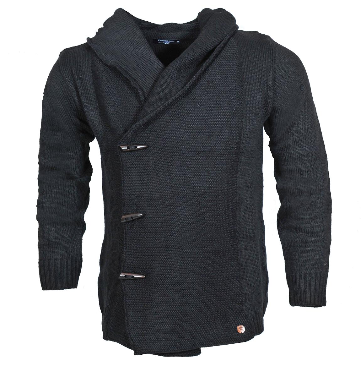 Πλεκτή Ζακέτα Zen Black αρχική ανδρικά ρούχα ζακέτες