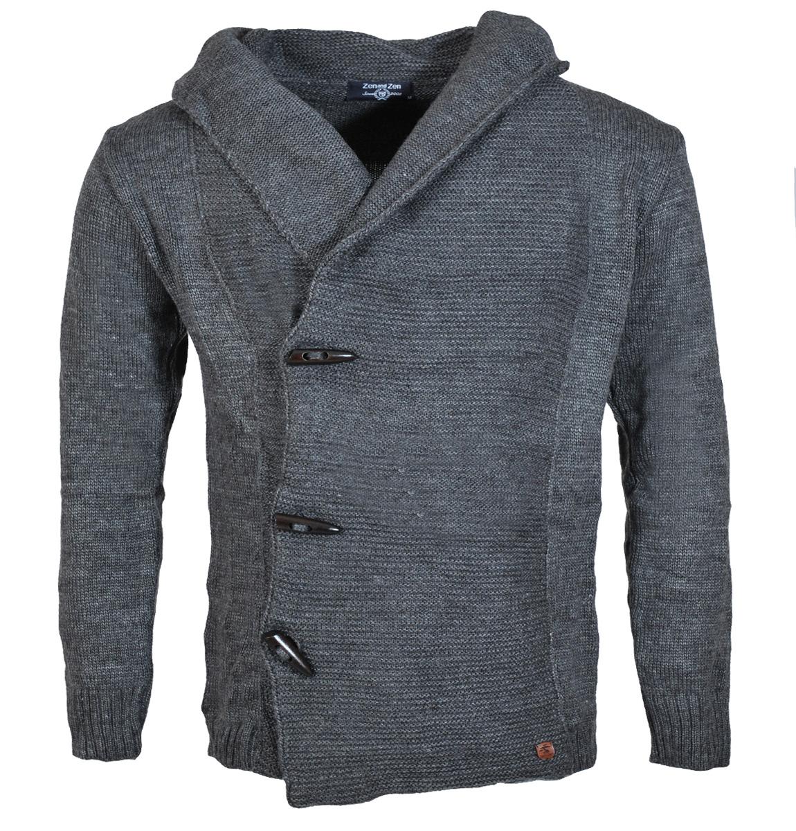 Πλεκτή Ζακέτα Zen D.Grey αρχική ανδρικά ρούχα ζακέτες