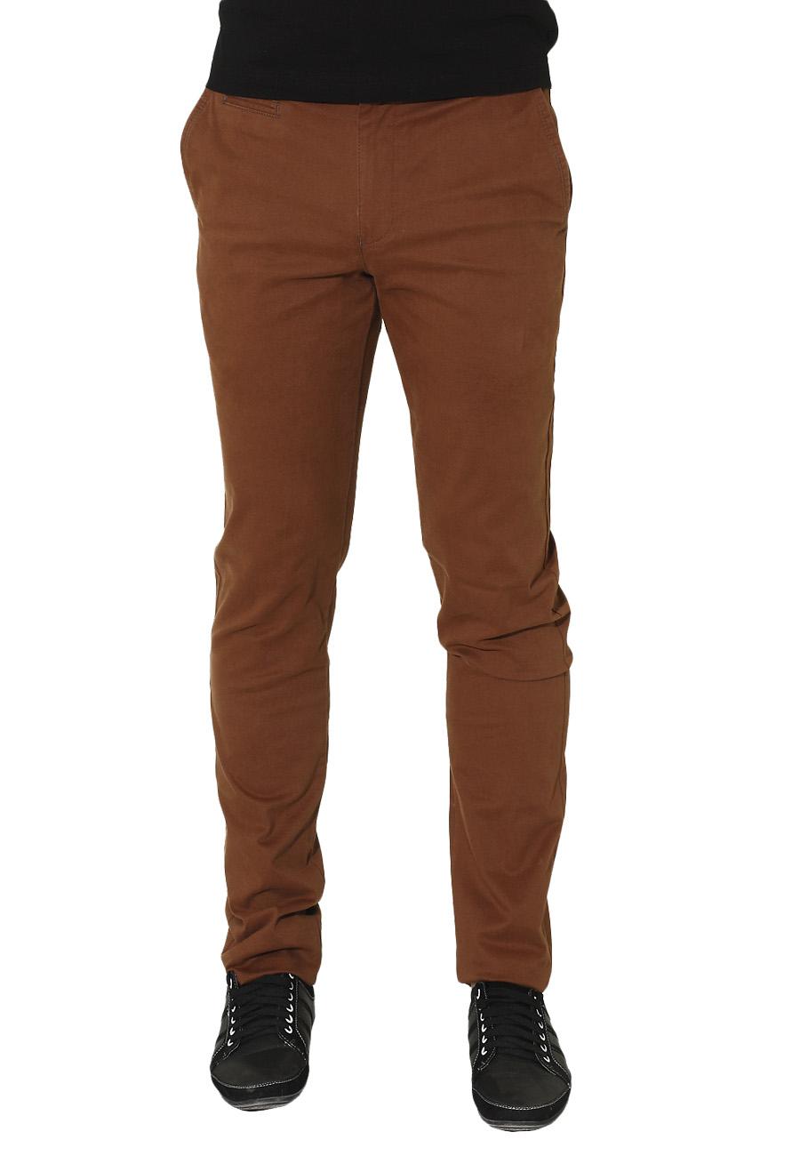 Ανδρικό Chino Παντελόνι Brown-Καφέ Σκούρο αρχική ανδρικά ρούχα παντελόνια chinos