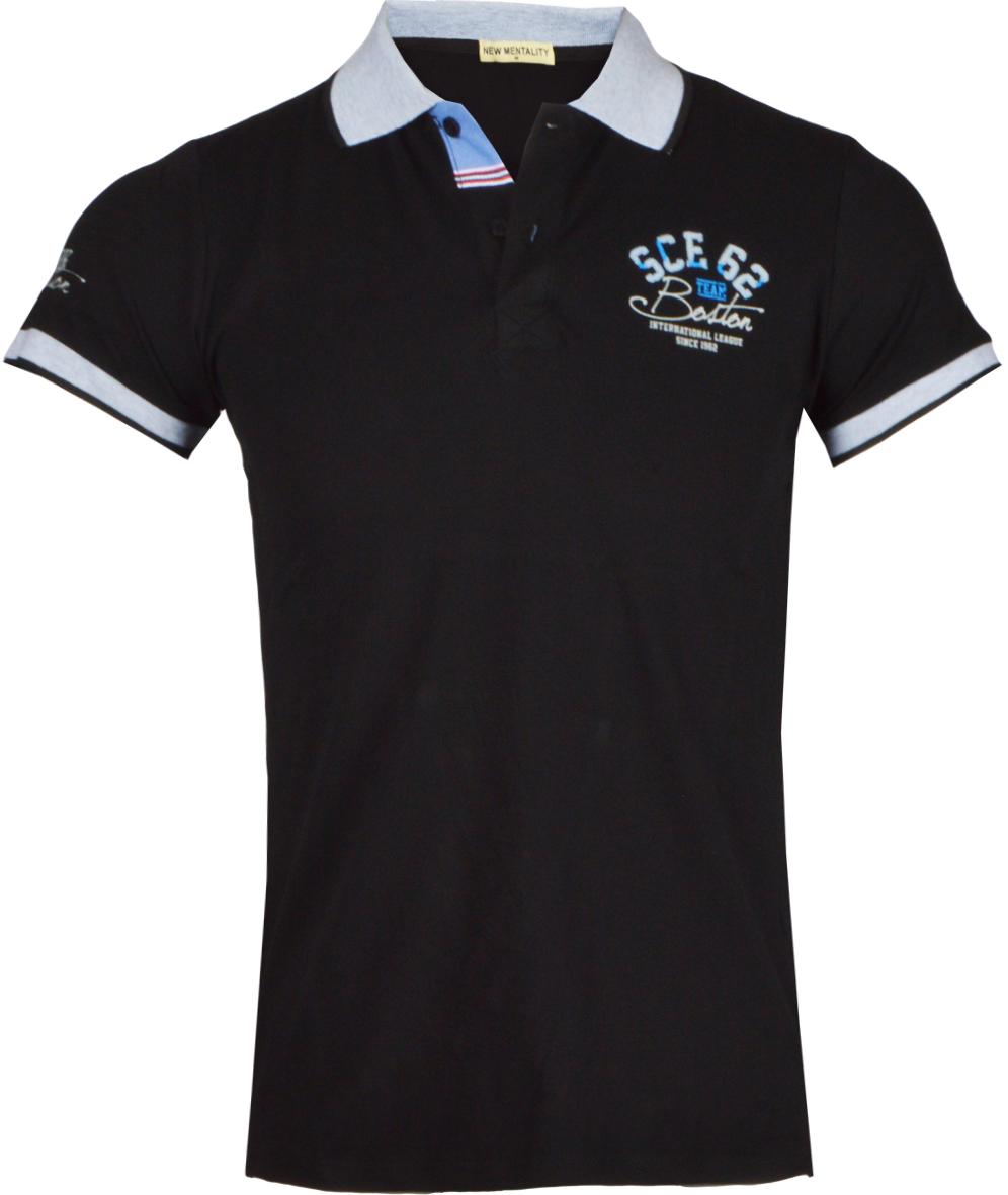 Ανδρικό Polo Boston-Μαύρο αρχική ανδρικά ρούχα polo