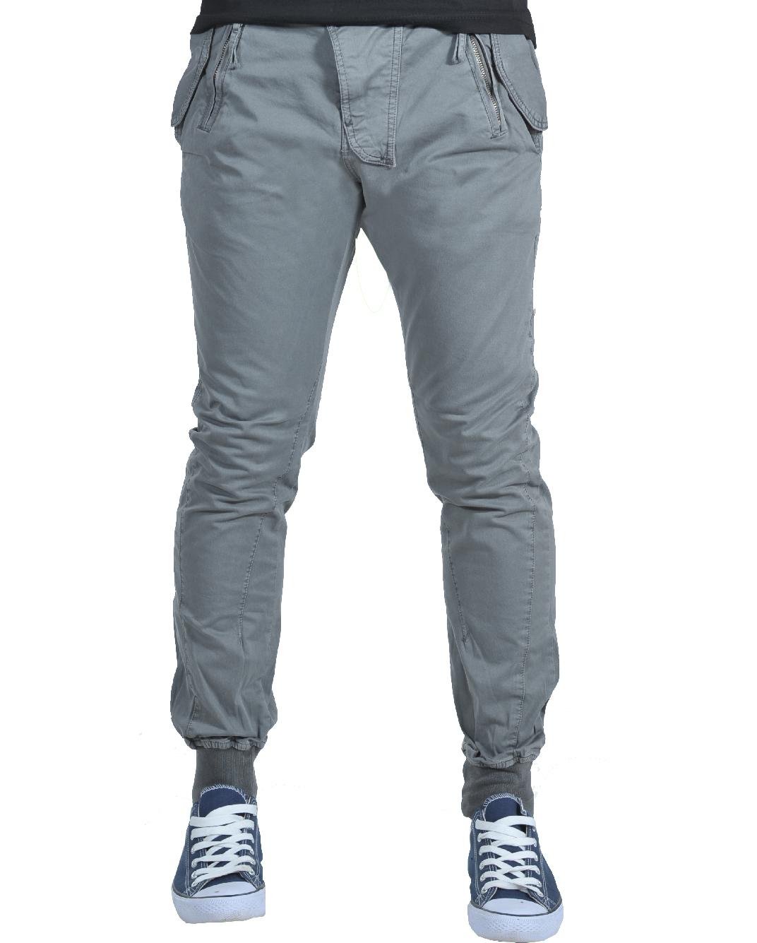 Ανδρικό Chino Παντελόνι Grey Rosso-Γκρι αρχική ανδρικά ρούχα παντελόνια chinos