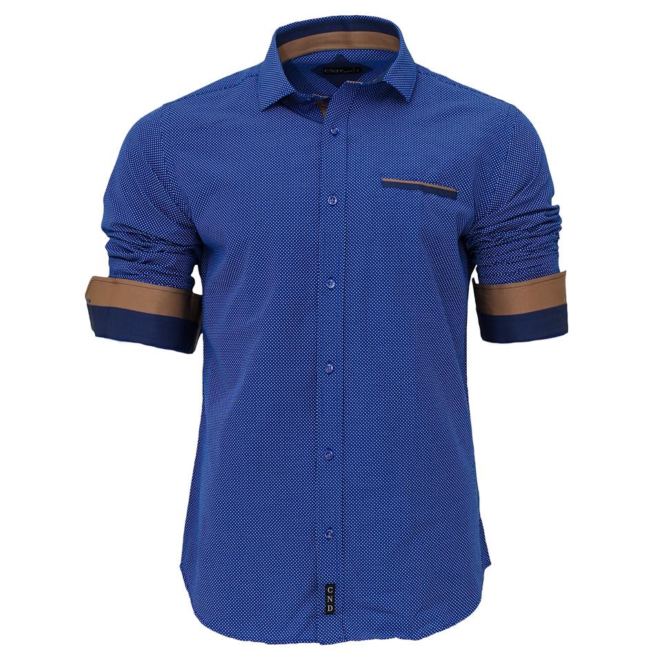 Ανδρικό Πουκάμισο CND Blue Poua αρχική ανδρικά ρούχα επιλογή ανά προϊόν πουκάμισα