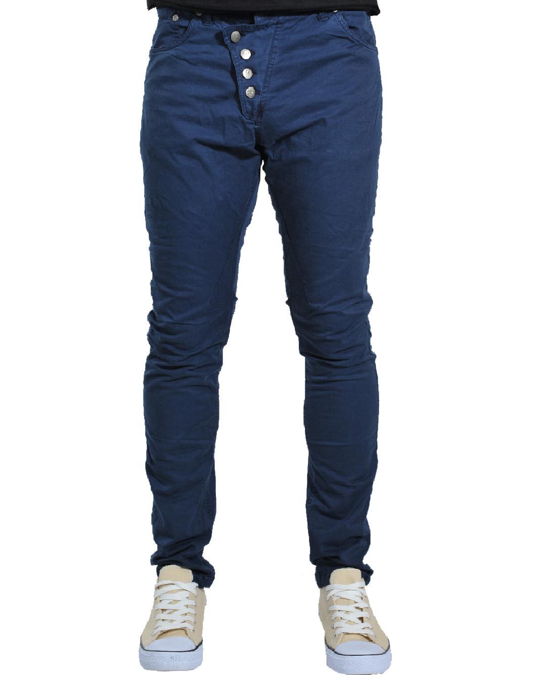 Ανδρικό Chino Παντελόνι D. Blue Crooked-Μπλε Σκούρο αρχική ανδρικά ρούχα παντελόνια chinos