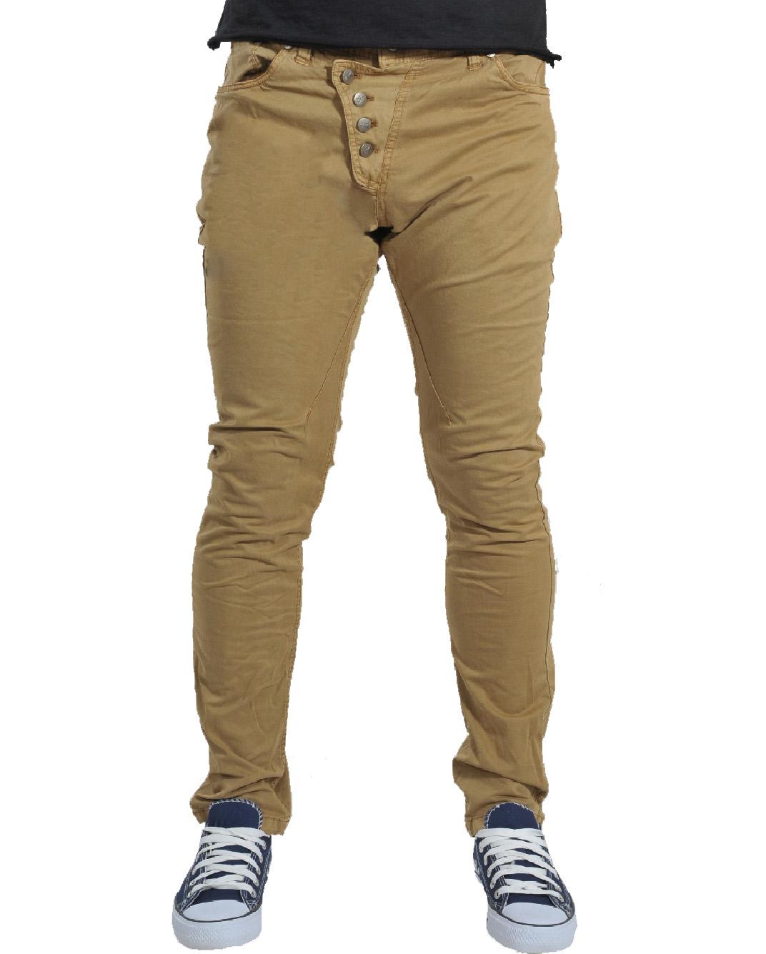 Ανδρικό Chino Παντελόνι Light Brown Crooked-Καφέ Ανοικτό αρχική ανδρικά ρούχα παντελόνια παντελόνια chinos
