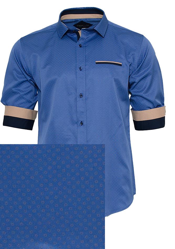 Ανδρικό Πουκάμισο Blue Spots αρχική ανδρικά ρούχα πουκάμισα