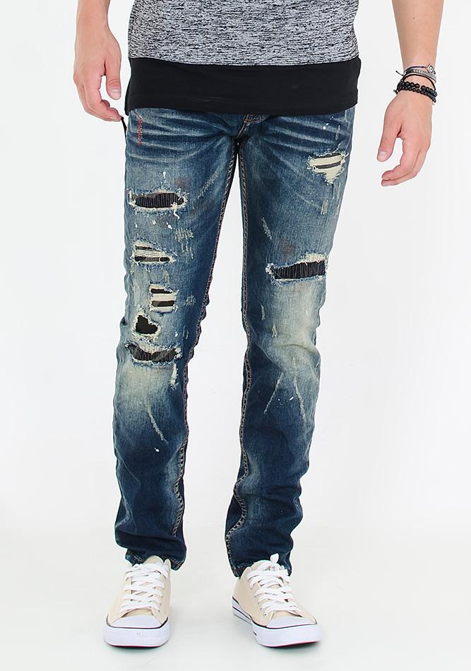Ανδρικό Jean Y-Two Red Stitches αρχική ανδρικά ρούχα επιλογή ανά προϊόν παντελόνια παντελόνια jeans