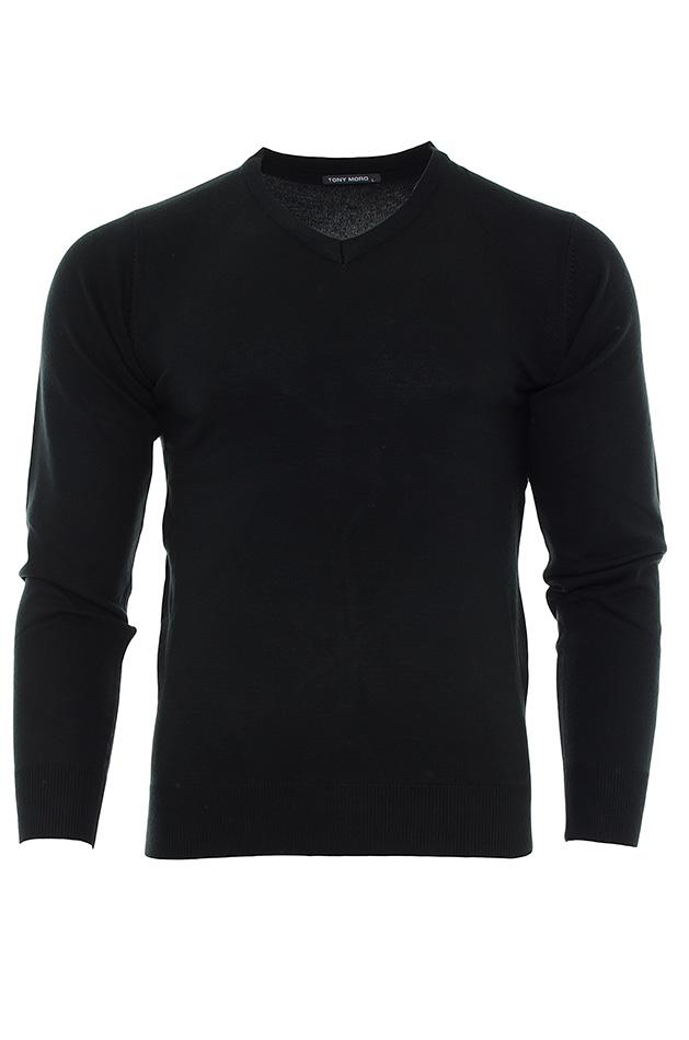 Ανδρική μπλούζα Tony Moro Black αρχική ανδρικά ρούχα μπλούζες