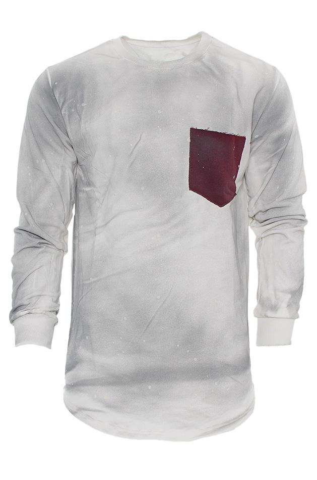 Ανδρική Φούτερ Splash Pocket White αρχική ανδρικά ρούχα φούτερ
