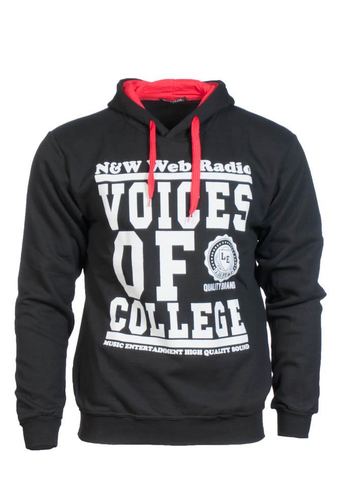 Ανδρικό Φούτερ College Black αρχική ανδρικά ρούχα φούτερ