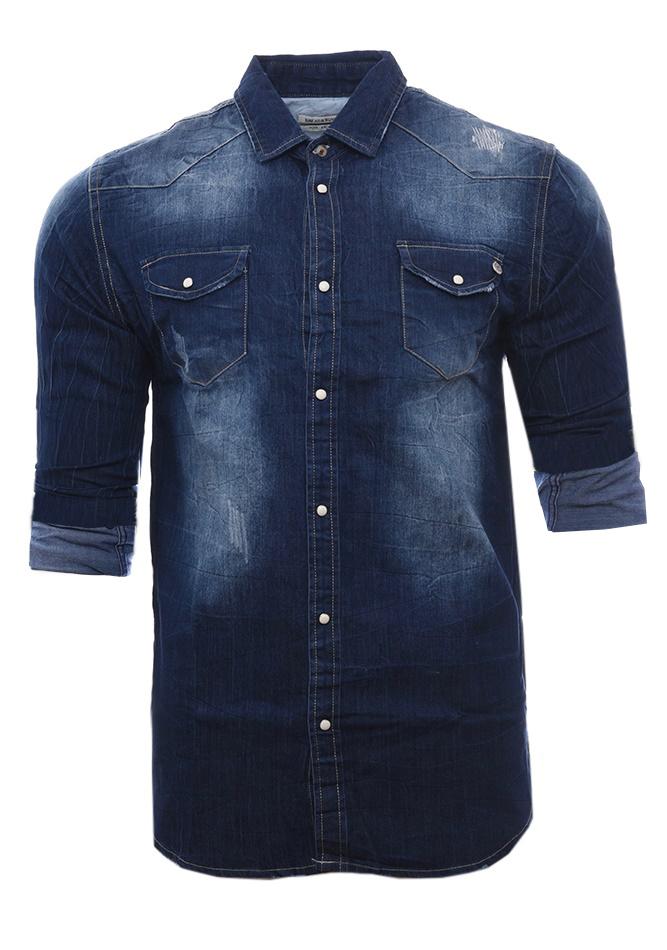 Ανδρικό Jean Πουκάμισο Basic αρχική ανδρικά ρούχα επιλογή ανά προϊόν πουκάμισα